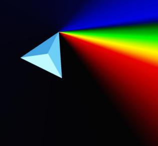 Prisma und Regenbogenfarben