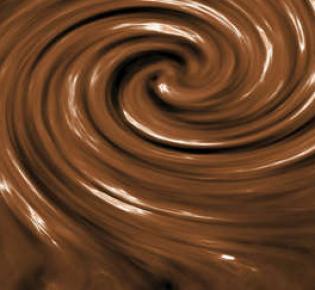 Strudel aus geschmolzener Schokolade