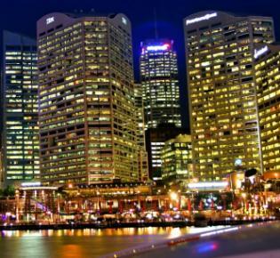 Lichter einer großen Stadt