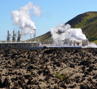 Geothermie-Kraftwerk auf Island