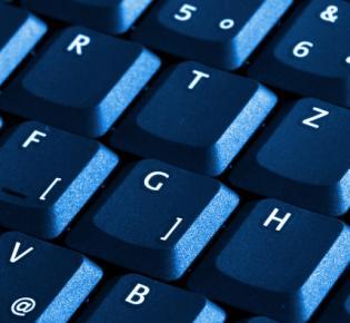 Schwarze Tastatur