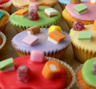 Eingefärbte Muffins