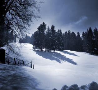 Schneelandschaft in der Schweiz