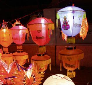 Lampions zum Divali Fest