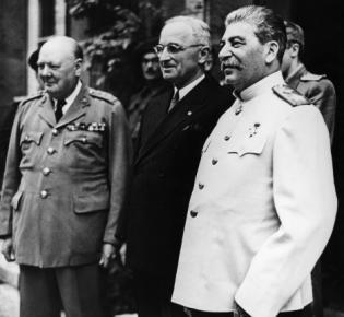 Potsdamer Konferenz 2.8.1945, Harry S. Truman, Winston Churchill, Josef W. Stalin