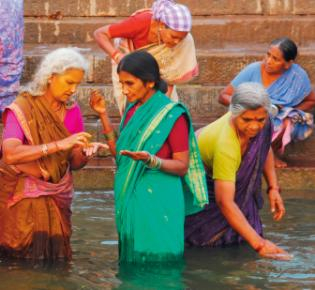 Am Ganges in Varanasi