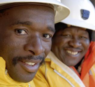 Arbeiter, Harmony Gold, Südafrika