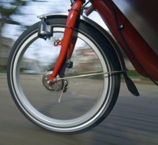 Vorderrad mit Fahrrad-Dynamo