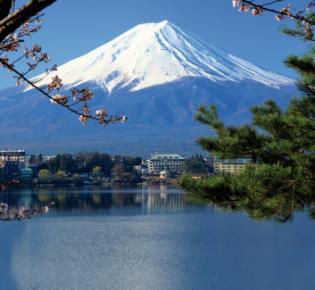 der japanische Vulkan Fuji