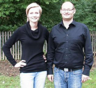 Ein eingespieltes Team: Die Gebärdensprachler Susann Schmidt und Stephan Straßer