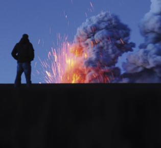 Beobachter am Vulkan Eyjafjallajökull