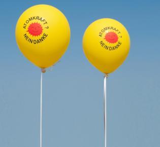 Luftballons: Atomkraft? nein danke!