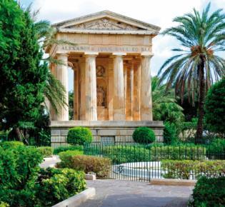 Lower Barrakka Gardens in Valletta, Malta