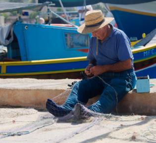 Fischer in Marsaxlokk, Malta