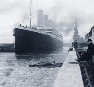 Titanic im Hafen von Southampton