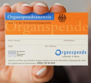 Organspenderausweis